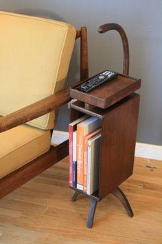 Vintage Mid-Century Wood #MagazineRack / Telephone Stand | #sidetable