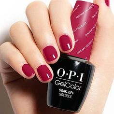 Love this bold, yet feminine shade from our #OPIWashingtonDC collection. #MadamPresident • what's your go to shade this season? Opi Gel Nails, Opi Gel Polish, Opi Nail Colors, Gel Polish Colors, Gel Color, Fall Opi Colors, Acrylic Nails, Trendy Nails, Cute Nails