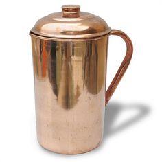 Dakshcraft Copper With Lid Handmade Self Healing Water Jug 1 L