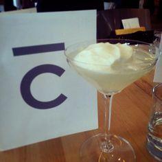 Cloud 9 cocktail with lemon foam at Bar C in Calgary #yyc #yycfood