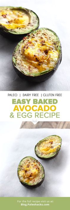 Easy Baked Avocado & Egg Recipe #Avocadoegg, #Avocadoeggrecipe, #Avocados