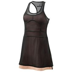 Runway Style: adidas by Stella McCartney Performance Dress with transparent mesh.