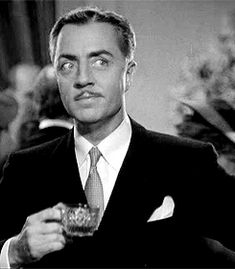 dianapowell@tumblr: William Powell trying to flirt in Rendezvous, 1935. Adorable!