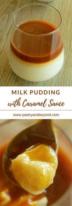 Milk Pudding with Caramel Sauce-You can make this scrumptious egg free caramel milk pudding easily. My mother's milk pudding is very rich with my caramel sauce. Köstliche Desserts, Delicious Desserts, Dessert Recipes, Yummy Food, Desserts Caramel, Healthy Food, Caramel Pudding, Pudding Recipes, Milk Pudding Recipe