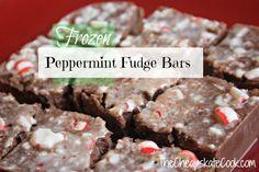 Peppermint Fudge Bars