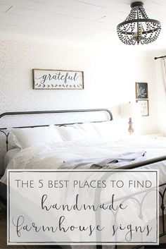 Handmade farmhouse signs are such a lovely way to incorporate some lovely rustic decor into your home! If you're on the hunt for some farmhouse signs from your home, you're definitely going to want to check out these gorgeous online shops!