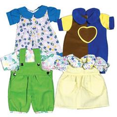 Playwear Clothes For 10 - 13 Inch Dolls from Kaplan