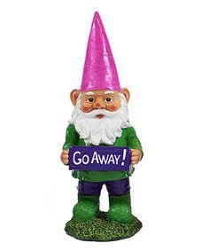Another great find on #zulily! 'Go Away!' Garden Gnome, $20 !! #zulilyfinds