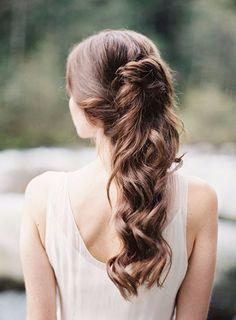 Cascading bridal hair inspiration hairstyle конский хвост, п Classic Wedding Hair, Wedding Hairstyles For Long Hair, Wedding Hair And Makeup, Down Hairstyles, Braided Hairstyles, Hairstyle Wedding, Elegant Hairstyles, Elegant Wedding, Blond