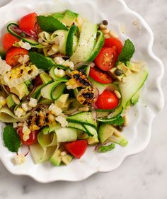 zucchini and grilled corn salad