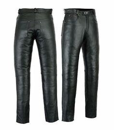 This Motorcycle Leather Pants Is Made Up Of Premium Quality Cow Plain Leather. We Don't Use Cow Milled Leather As It Is Low In Quality. Fully Lined Up to Shin And This Leather Trousers Also Have Zip Fly. Mens Leather Pants, Biker Leather, Cow Leather, Real Leather, Motorcycle Jeans, Biker Pants, Jeans Pants, Leather Fashion, Casual Shirts For Men