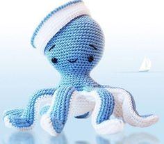 Амигуруми: Осьминог. Бесплатная схема для вязания игрушки. FREE amigurumi pattern. #амигуруми #amigurumi #схема #pattern #вязание #crochet