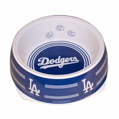 "-""Los Angeles Dodgers Stainless Dog Bowl