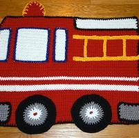 Fire engine baby or child's afghan (sign up on Craftsy for pattern)