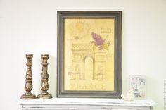 Купить Винтажные панно Прованс Парижа, диптих, картина, постер в интернет магазине на Ярмарке Мастеров