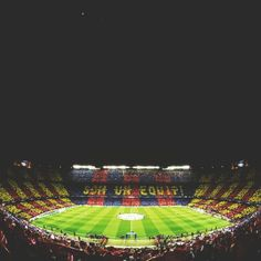 Camp Nou. FC Barcelona stadium, one of the largest in the world. Barcelona, Spain.