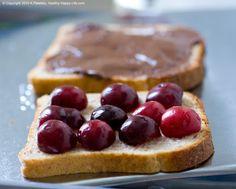 Dessert Panini: Smashed Choco PB Covered Cherry.