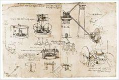 Studies of Suction Pumps and Archimedes Tubes, by Leonardo Da Vinci