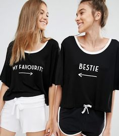 A set of matching tees you will obviously wear out together. | 23 Gifts For BFFS With Zero Boundaries