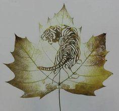leaf carving | Leaf Carving - Awesome Artwork...