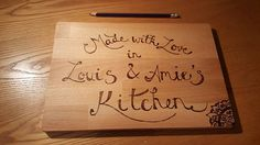 Check out this item in my Etsy shop https://www.etsy.com/uk/listing/492345604/personalised-chopping-board