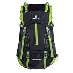 b9da5b4b09a Greenlan 50L 55L Packable Hiking Backpack with Rain Cover for Climbing  Camping Mountaineering Backpacking Outdoor Sports