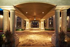 Porte Cochere Sample 4 Portico Entry House Entrance Dream