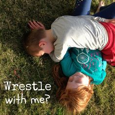 Rough and tumble play/ wrestling/ rough housing / child's play