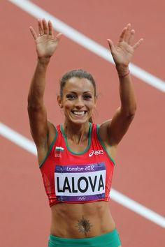 Ivet Lalova, born 18 May 1984 in Sofia, is a Bulgarian athlete who specialises in the 100 metres and 200 metres sprint events. She is the tenth fastest woman in 100 metres history, and is tied with Irina Privalova for the fastest time by a sprinter not of African or African-American descent.