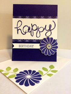 Birthday Card from Christy Miller at The Stamp Cycle. Birthday Cards, Happy Birthday, Crazy About You, Old Paper, Stamp, Projects, Blog, Bday Cards, Happy Brithday