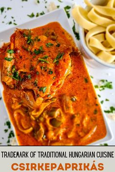 Chicken paprikash is very simple and quick to make. It is made of chicken, onion, peppers, sour cream and, of course, paprika. In literal translation, the word csirkepaprikás means paprika chicken, not chicken with paprika. There is a good reason for this because paprika is the most important ingredient here.