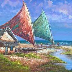 Quadro marina Opera House, Disney, Travel, Watercolor Art, Painting Art, Beautiful Scenery, Beautiful Paintings, Beautiful Landscapes, Artworks