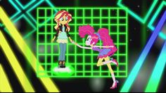 My Little Pony Equestria Girls Friendship Games Hasbro Studio Shorts. Friendship Through the Ages music video. Sunset Shimmer and Pinkie Pie.