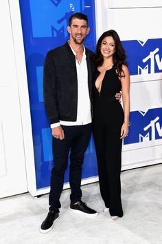 Michael Phelps and Nicole Johnson. VMAs 2016