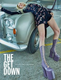 Appearing in the November 2016 issue of ELLE UK, model Marique Schimmel channels the 1970's for an editorial called, 'The Get Down'. Photographed by Kai Z Feng
