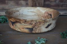 Fruit Bowl Ambrosia Maple  Centerpiece by oneofakind2woodbowls, $165.00