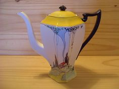 Very Rare Shelley Queen Anne Cottage 1 Art Deco Coffee Pot 11604 Rd723404 | eBay