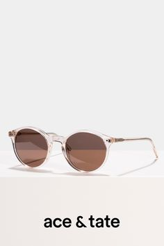 fad77c0540 Monty - Round sunglasses - Champagne - View More Prescription Lenses