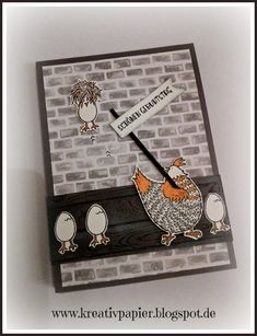 Stampin' Up! Hey chick, sale-a-bration Birthday Card Pop Up, Crazy Bird, Stamping Up Cards, Bird Cards, Animal Cards, Tampons, Funny Cards, Paper Cards, Homemade Cards