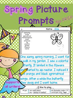 Spring Writing Prompts (Series) | Peer Review, Writing Prompts and ...