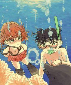 Manga Anime, Anime Art, Kudo Shinichi, Greatest Mysteries, Case Closed, Magic Kaito, Bff Goals, No One Loves Me, Conan