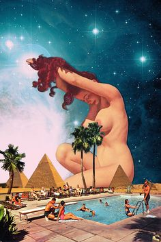 The Sphinx via Eugenia Loli Collage. Click on the image to see more!