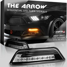 2015-2017 Mustang LED Arrow Turn Signals with Switchback Sequential - OPT7