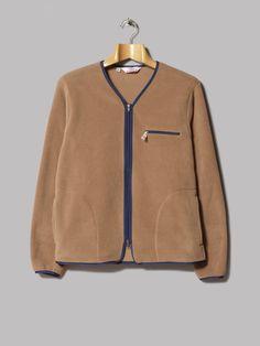 Battenwear Lodge Cardigan (Camel Polartec Classic 200)