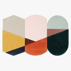 New Zealand Wool Rug designed by Seraina Lareida. Each graphic design rug can match each other, to make the composition you like. Blue Carpet, Diy Carpet, Carpet Colors, Modern Carpet, Rugs On Carpet, Hotel Carpet, Shaw Carpet, Carpet Ideas, Textiles