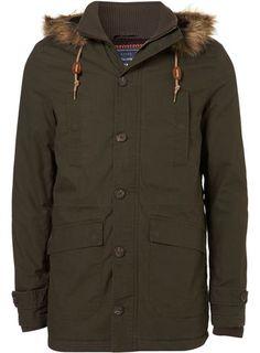 Khaki Pattern Lined Fur Trim Parka Parka Outfit, Ugg Boots Outfit, Mens Fur, 946f5e5fb9