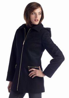 MICHAEL Michael Kors  Center Zip Walker Coat