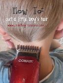 Crafty Cousins: How To: Cut a Little Boy's Hair-- not sure I'd want to use this style but good info to have.