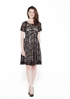 Antibes Black Lace Dress | One Dress A Day