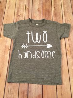 Two Handsome Birthday Shirt 2nd Birthday by OliverOliviaApparel